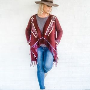 Boho Indian Cardigan HEAVY KNIT